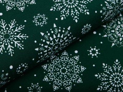 Jersey Swafing Jesse - Schneeflocken - waldgrün