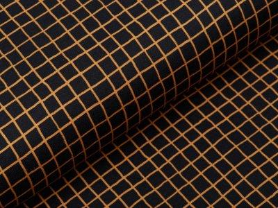 Sweat French Terry Swafing Sweet Bears - Karos 1 cm x 1 cm - schwarz