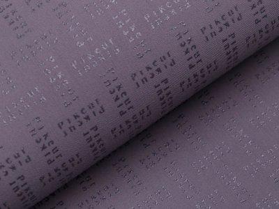 Wasserdichter Funktions-Jackenstoff und -Hosenstoff - gummierte Aufschrift - grau