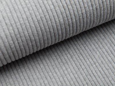 Grobes Ripp-Strick Bündchen im Schlauch - meliert grau