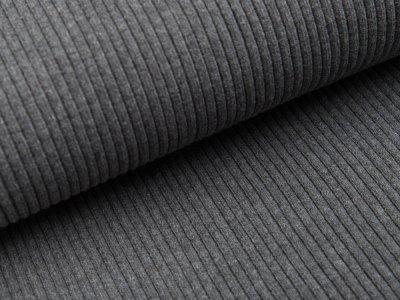 Grobes Ripp-Strick Bündchen im Schlauch - meliert dunkles grau