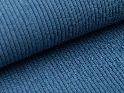 Grobes Ripp-Strick Bündchen im Schlauch - meliert jeansblau