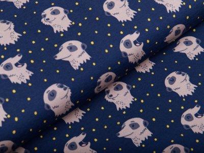Jersey Swafing Furry Faces by Käselotti - kleine Erdhörnchen - dunkles blau