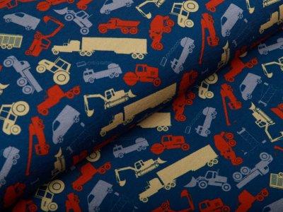 Jersey Swafing Jesse - verschiedene Baufahrzeuge - dunkles blau