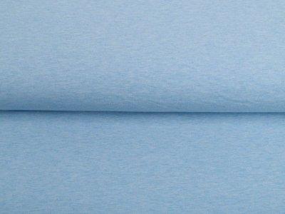 Leicht angerauter Sweat Melange Sanetta - meliert blau