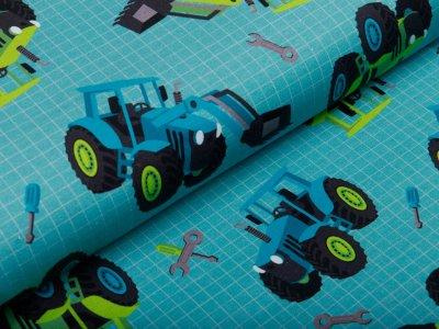 Leicht angerauter Sweat Swafing Traktor Power by Sandra Kretzmann - Traktoren - mint
