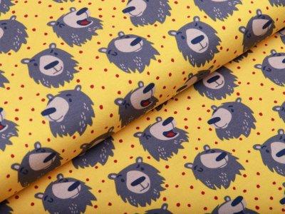 Jersey Swafing Furry Faces by Käselotti - kleine Bären - gelb