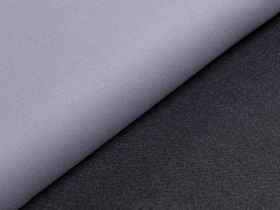 KDS Queen's Collection - High-Stretch-Jeansstoff Doubleface Köper - grau