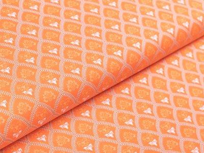 Webware Baumwolle by Klaranähta - gepunktete Bögen - orange