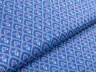 Webware Baumwolle by Klaranähta - gepunktete Bögen - blau