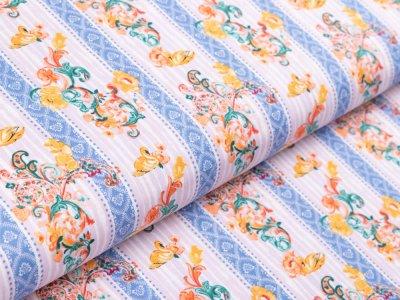 Webware Baumwolle by Klaranähta - florales Muster - pastellflieder