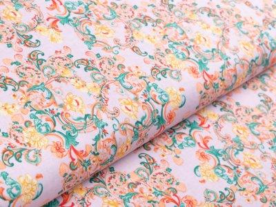Webware Baumwolle by Klaranähta - florale Ornamente - pastellflieder