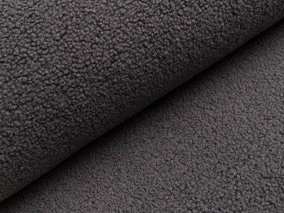 Bouclé Mantelstoff - dunkles grau