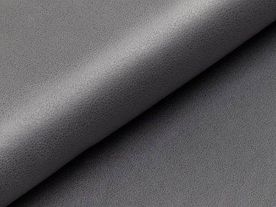 Elastisches Lederimitat  - uni dunkles grau