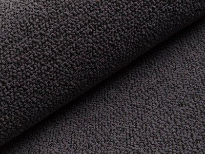 Chenille Strickstoff - Knötchen - grau/schwarz