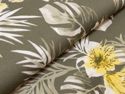 KDS Queen's Collection - Jersey Viskose - Lilien - olive