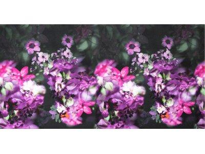 KDS Queen's Collection Ramona - Jersey Viskose PANEL ca. 80cm x 160cm - Blumenmeer - magenta
