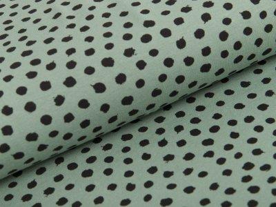 Jersey - Dots - pastellgrün