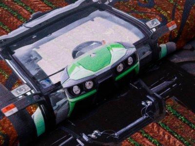 Jersey Digitaldruck Stenzo PANEL ca. 75 cm x 150 cm - cooler Traktor - weiß/braun