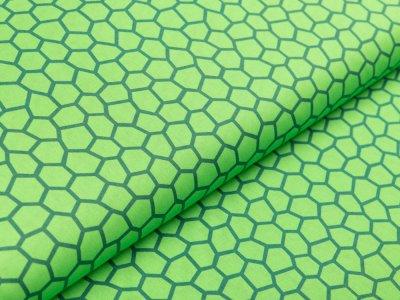 Webware Baumwolle Swafing Kim - Sechsecke - grün