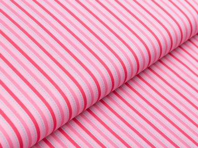 Webware Baumwolle Swafing Kim - Querstreifen - rosa
