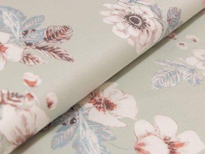 Interlock - Pastellige Blüten - mint