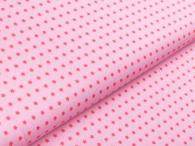 Webware Baumwolle Swafing Kim - verschiedene Sterne - rosa