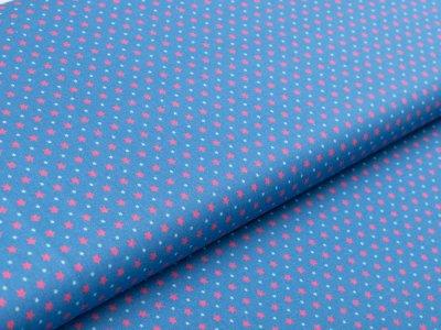 Webware Baumwolle Swafing Kim - verschiedene Sterne - jeansblau