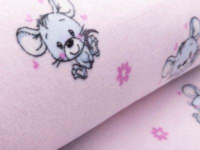 Wellnessfleece - niedliche Mäuse - rosa