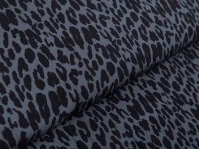 Webware Viskose Swafing Pauline - Animalprint - dunkles grau