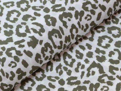KDS Queen's Collection - Viskose Crêpe Georgette - Animalprint - weiß/oliv