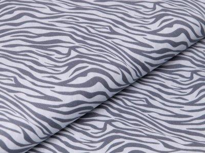 Webware Baumwolle Popeline - Animalprint - grau