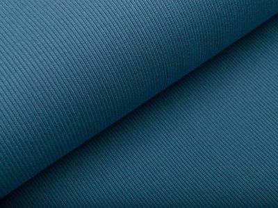 Jersey Rippstrick - uni jeansblau
