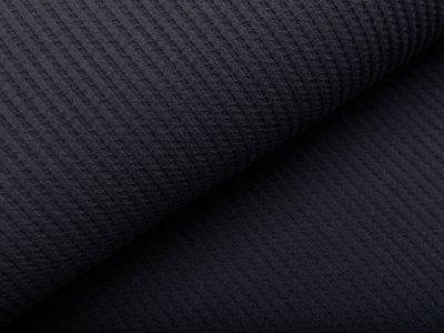 Jersey Rippstrick - Waffeloptik - uni grau