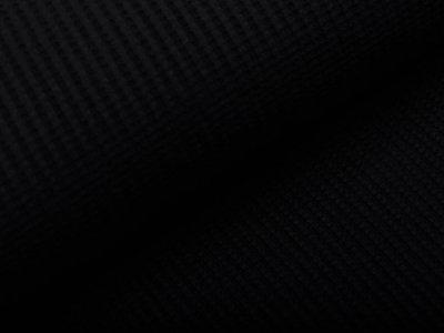 Jersey Rippstrick - Waffeloptik - uni schwarz