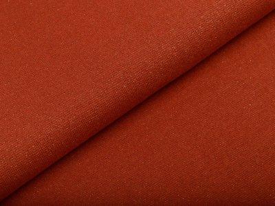 Glattes Bündchen im Schlauch 70 cm mit Glitzerfäden - uni terrakotta/goldfarben
