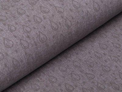 Reflektierender Nano Softshell Jackenstoff Swafing Pondero - Regentropfen - meliert grau