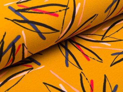 Sweat French Terry by Poppy - Blütenblätter- ocker