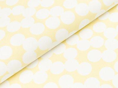 Canvas by Tillisy - große Punkte - gelb/weiß
