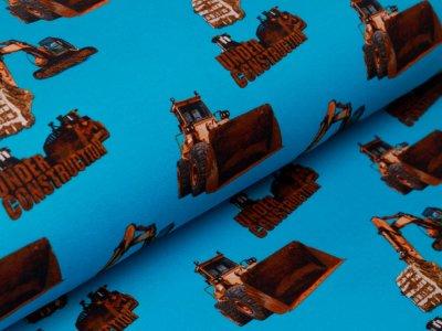 Jersey Digitalprint Stenzo - verschiedene Baufahrzeuge - türkis