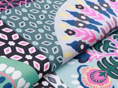 Dekostoff Swafing Pillow Party by Jolijou PANEL ca.  98 x 140 cm - Mandala - pink
