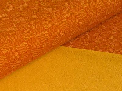 Sommer-Sweat Swafing - Rick - Kritzel-Schachbrett - orange
