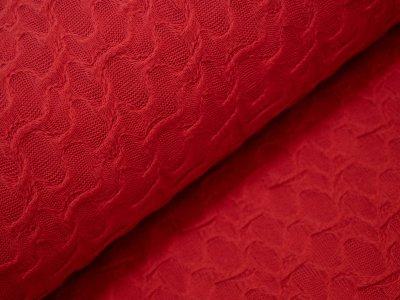 KDS Queen's Collection - Italienischer Sommerstrickstoff - unregelmäßig verstrickte Ellipsen - rot
