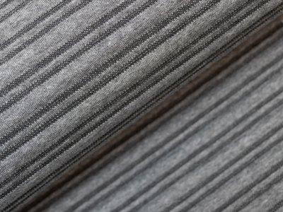 KDS Queen's Collection Isabella - Doppellagiger Jacquard mit haptischen Streifen - grau/schwarz