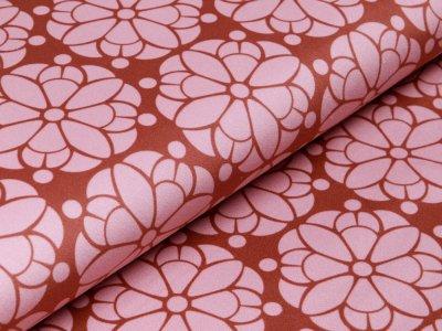 Velvet Swafing Pretty by Cherry Picking - Blumenmandala - braun/rosa