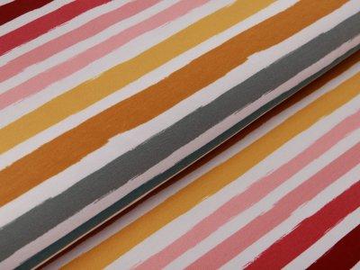 Sweat French Terry by Poppy - Streifen - weiß
