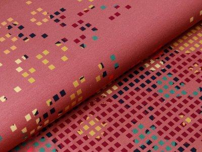 Modal Sweat French Terry Bordürenstoff Swafing Decode by Bienvenido Colorido - Pixel - altrosa