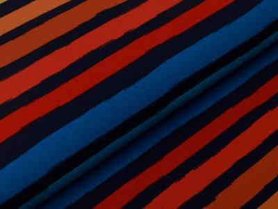 Sweat French Terry by Poppy - Streifen - blau