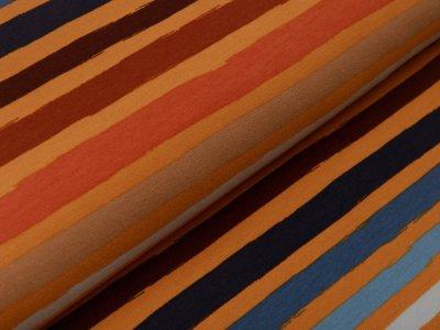 Sweat French Terry by Poppy - Streifen - ocker