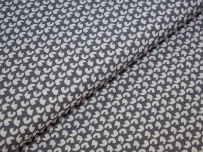 KDS Queen's Collection - Jersey Viskose - unregelmäßige Formen - grau/weiß